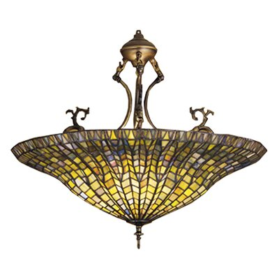 Tiffany Lotus 3-Light Inverted Pendant