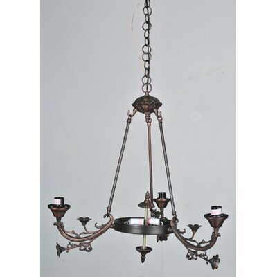 Victorian Foral 5-Light Shaded Chandelier