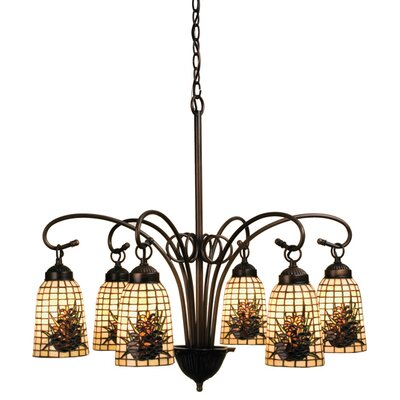 Victorian Barons 6-Light Shaded Chandelier