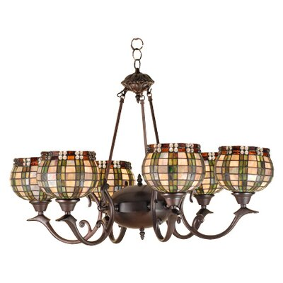 Jeweled Basket 6-Light Shaded Chandelier