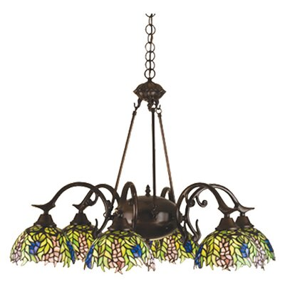 Tiffany Honey Locust 6-Light Shaded Chandelier