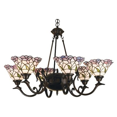 Victorian Daffodil Bell 6-Light Shaded Chandelier