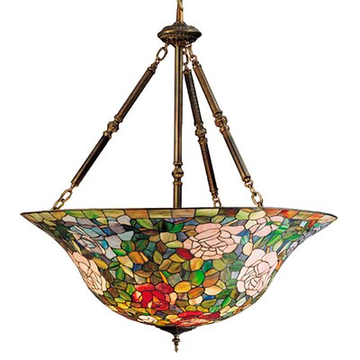Tiffany Rosebush 5-Light Inverted Pendant