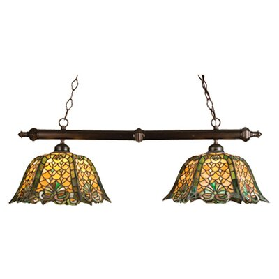 Tiffany Duffner and Kimberly Shell and Diamond 2-Light Pool Table Light