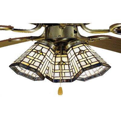 Arrowhead 4 Glass Bowl Ceiling Fan Fitter Shade