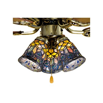 Tiffany 4 Glass Bell Ceiling Fan Fitter Shade