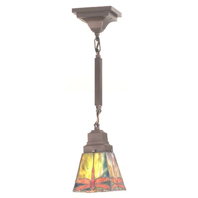 Mission Stickley Prairie Dragonfly 1-Light Mini Pendant Size: 29 H