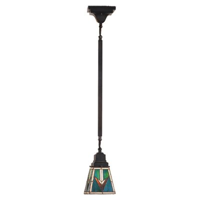Valencia Mission 1-Light Mini Pendant Size: 47 H x 5 W x 5 D