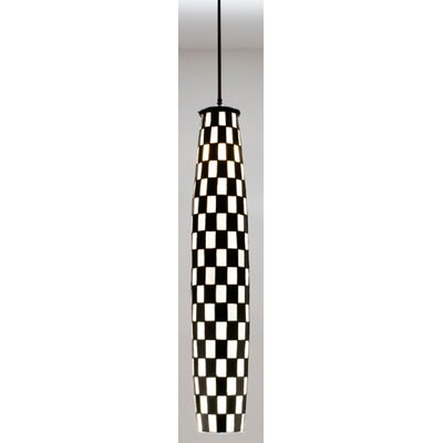Checkers 2-Light Mini Pendant Shade Color: Black and White