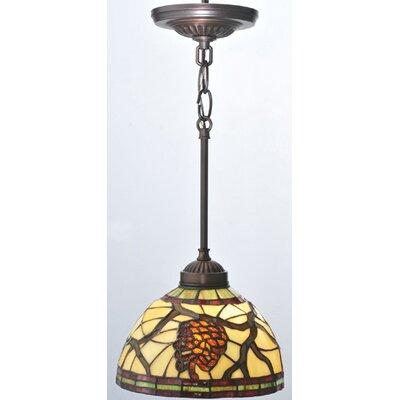 Lodge Tiffany Pinecone 1-Light Mini Pendant