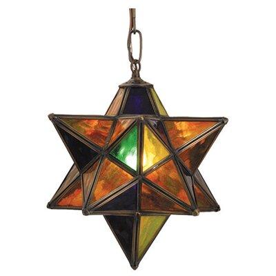 Moravian Star 1-Light Mini Pendant Shade Color: Multi-Color
