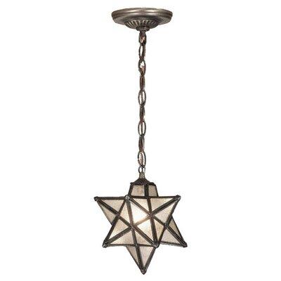 Moravian Star 1-Light Mini Pendant Shade Color: Seedy - Mini