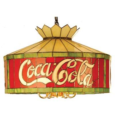 Tiffany Americana Recreation 1-Light Drum Pendant Size: 50 H x 20 W x 20 D, Number of Bulbs: 6