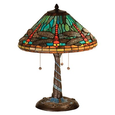 Tiffany Dragonfly with Twisted Fly Mosaic Base Table Lamp