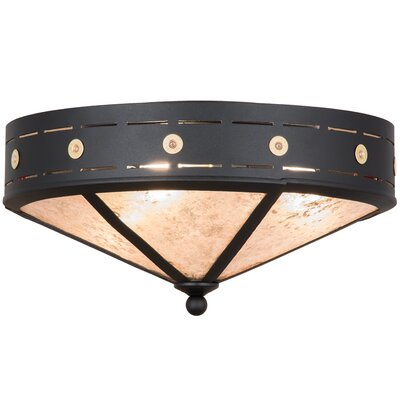 Greenbriar Oak 3-Light Flush Mount