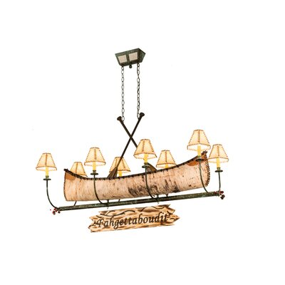 Personalized Canoe 8-Light Shaded Chandelier