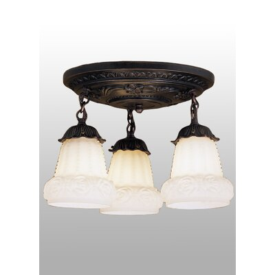 3-Light Shower Semi Flush Mount
