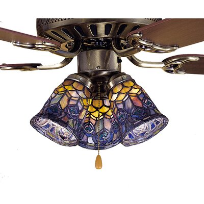 Tiffany 4 Glass Bell Ceiling Fan Fitter Shade