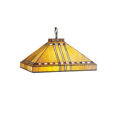 Mission Stickley Prairie Corn 3-Light Pool Table Light