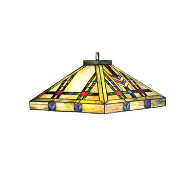 Mission Arts and Crafts Southwest Prairie 4-Light Pool Table Light
