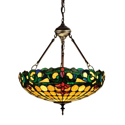 Tiffany Duffner and Kimberly Colonial 3-Light Inverted Pendant