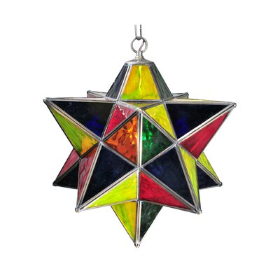 1-Light Star Pendant Shade Color: Multi-Stone