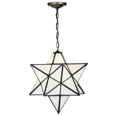 1-Light Star Pendant Shade Color: White