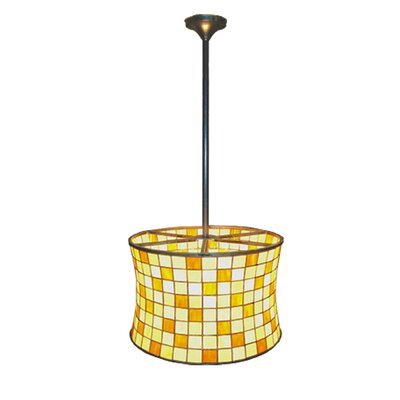 Deco Hilton 2-Light Barrel Drum Pendant
