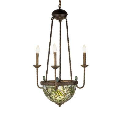 Tiffany Lotus Bud 5-Light Candle-Style Chandelier