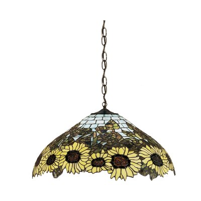 Wild 3-Light Sunflower Pendant