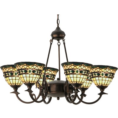 Tiffany Roman 6-Light Shaded Chandelier