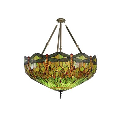 Tiffany 5-Light Inverted Pendant