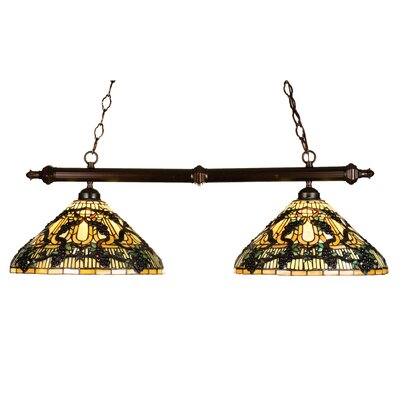 Tiffany Jeweled Grape 2-Light Pool Table Light