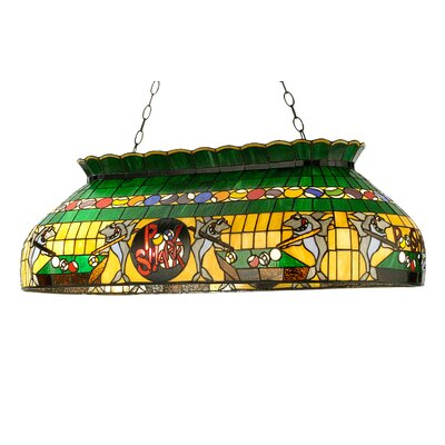 Tiffany Pool Shark Oblong 6-Light Pool Table Light