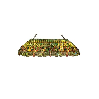 Tiffany Hanginghead Dragonfly Oblong 6-Light Pool Table Light
