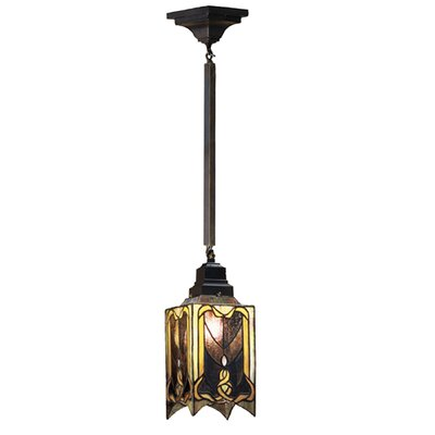 Cottage Mission 1-Light Mini Pendant Size: 28 H x 5.5 W x 5.5 D