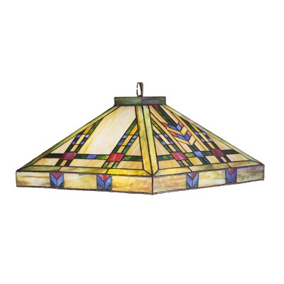 Mission Southwest Prairie 3-Light Pool Table Light