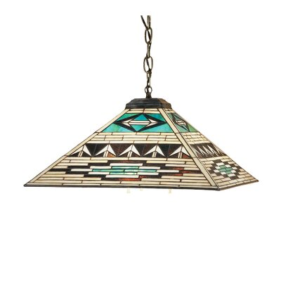 Mission Southwest Valencia 3-Light Pool Table Light