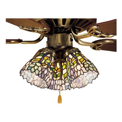 Wisteria 5 Glass Bowl Ceiling Fan Fitter Shade