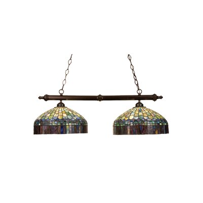 Tiffany Candice 2-Light Pool Table Light