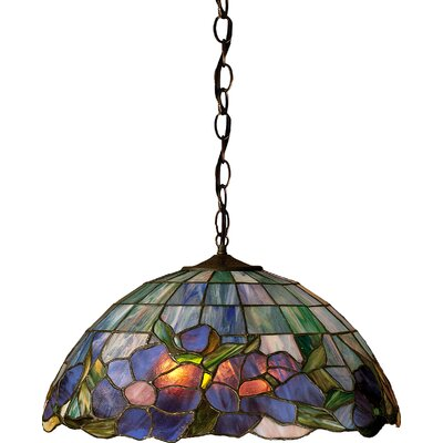 Art Glass 1-Light Bowl Pendant