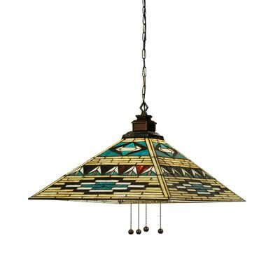 Mission Tiffany Prairie Southwest Valencia 4-Light Pendant