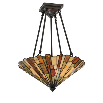 4-Light Deco Weissman Delta Semi Flush Mount