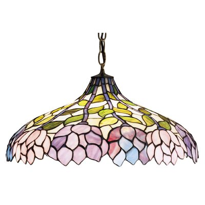 Tiffany Wisteria 3-Light Bowl Pendant