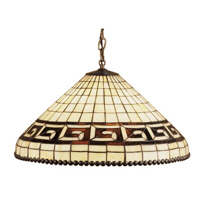 Deco Greek 3-Light Bowl Pendant