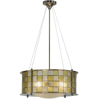 Utopia 3-Light Drum Pendant Finish: Brushed Nickel