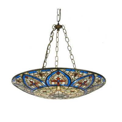 Victorian Tiffany Church Dome Inverted Pendant