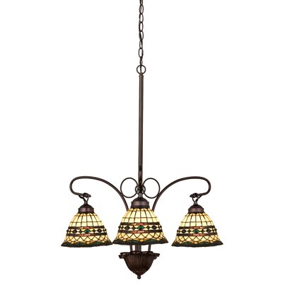 Tiffany Roman 3-Light Shaded Chandelier