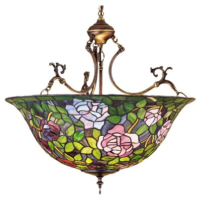Tiffany Rosebush 3-Light Inverted Pendant
