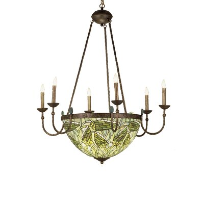 Tiffany Lotus Bud 6-Light Candle-Style Chandelier